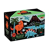"""Galison and MudPuppy Dinosaur Glow-in-the-Dark Puzzle, 100 Pieces, 18""""x12"""" –Perfect for Kids Age 5+ - Colorful and Glowing Illustrations of Dinosaurs ... Glow in the Dark Puzzle (9780735345720)"""