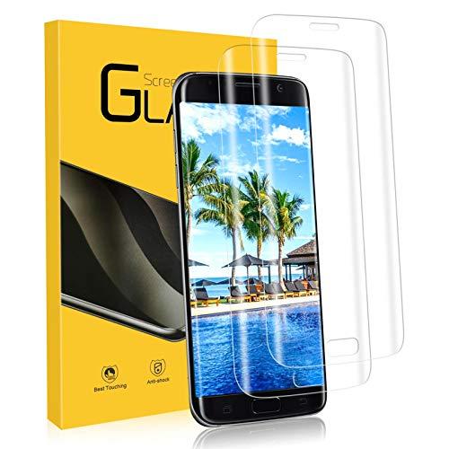 YIEASY Schutzfolie für Samsung Galaxy S7 Edge Panzerglas für Samsung S7 Edge Folie,[2 Stück] [9H Härte] [Anti-Kratzen/Öl/Bläschen] 3D volle Bedeckung Displayschutzfolie für Galaxy S7 Edge Panzerglas