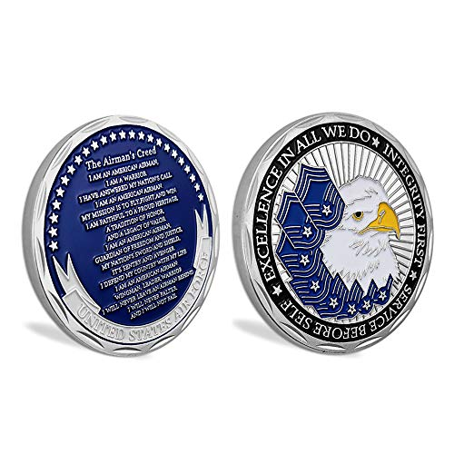 United States Air Force Airmans Creed Military Challenge Coin