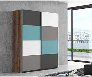 RAVEN Armoire de chambre scandinave multicolore - L 170 cm