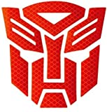 Reflective Light Transformers Autobot - Car,Motorcycle,Car Window, Truck, Notebook, Vinyl Decal Sticker,Autobot car Accessories,Vehicle Decorative Stickers (Red)