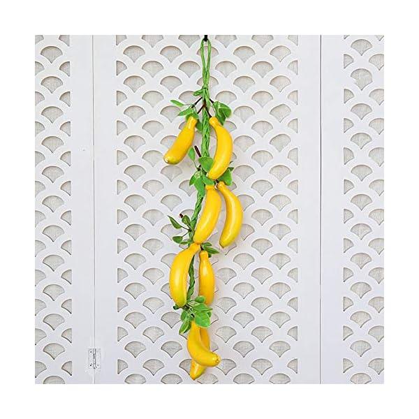 NC56 Simulation Bananas Strings Artificial Fruit Vegetable Foam Model Farmhouse Hotel Decoration Photography Prop Hanging Pendant
