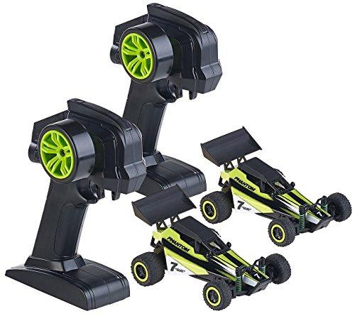 Simulus Microracer: 2er-Set Ferngesteuerte Miniflitzer, 2.4GHz Technologie (RC Fahrzeuge)
