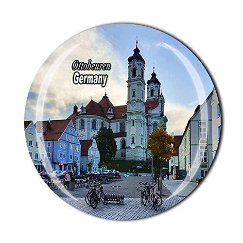 Ottobeuren Germany Reise-Souvenir Geschenk 3D Kristall Kühlschrank Magnet Home Küche Dekoration Magnetaufkleber