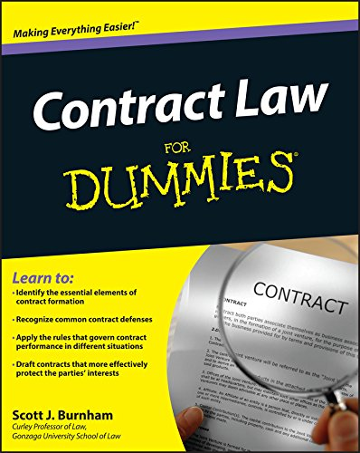 Compare Textbook Prices for Contract Law For Dummies 1 Edition ISBN 9781118092736 by Burnham, Scott J.