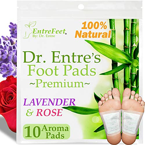 Dr. Entre's Detox Foot Pads: Organic All Natural Formula for Impurity Removal, Pain Relief, Sleep Aid, Relaxation | Aroma Infused 10 Pack