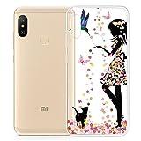 HYMY Funda para Xiaomi Mi A2 Lite (5.84') - Transparente Clear TPU Silicona Suave Gel Caja Tapa Caso Parachoques Carcasa -WM49