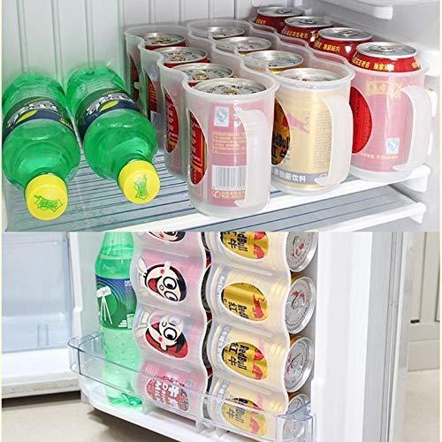 YUEZPKF Conveniente y práctico Cerveza Duradera Soda Coca Cola Caquilla Caja de Almacenamiento Frigorífico Bebida Botella Soporte para Refrigeración Organizador de Cocina