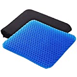 Egg Gel Seat Cushion, Breathable Gel Cushion Chair Pads with Non-Slip Cover for Home Office Car Wheelchair, Honeycomb Design As Seen On TV