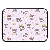 Kawaii Raccoon Fashionable Laptop Bags for Men and Women Waterproof Laptop Sleeve Fits 13/15 Inch Laptop, Computer, Tablet