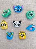 Cubiertas de llaves de dibujos animados,8 estilos Llaveros de animales lindos de dibujos animados Llaveros Tapa de silicona Llaveros Panda Stitch Elefante Llaveros