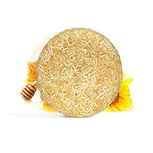 Barra de champú para cabello, acondicionador orgánico y esencia de reparación de la esencia, anti-cabello anti arquitectura y control de aceite para el cabello dañado en seco (2 piezas),Honig 2 pcs
