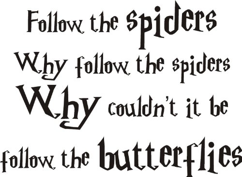 Harry Potter Ron Weasley araignées Art Mural en vinyle. 2 tailles. Film pour enfant, Vinyle auto-adhésif, Rose clair, MEDIUM 90x45CM