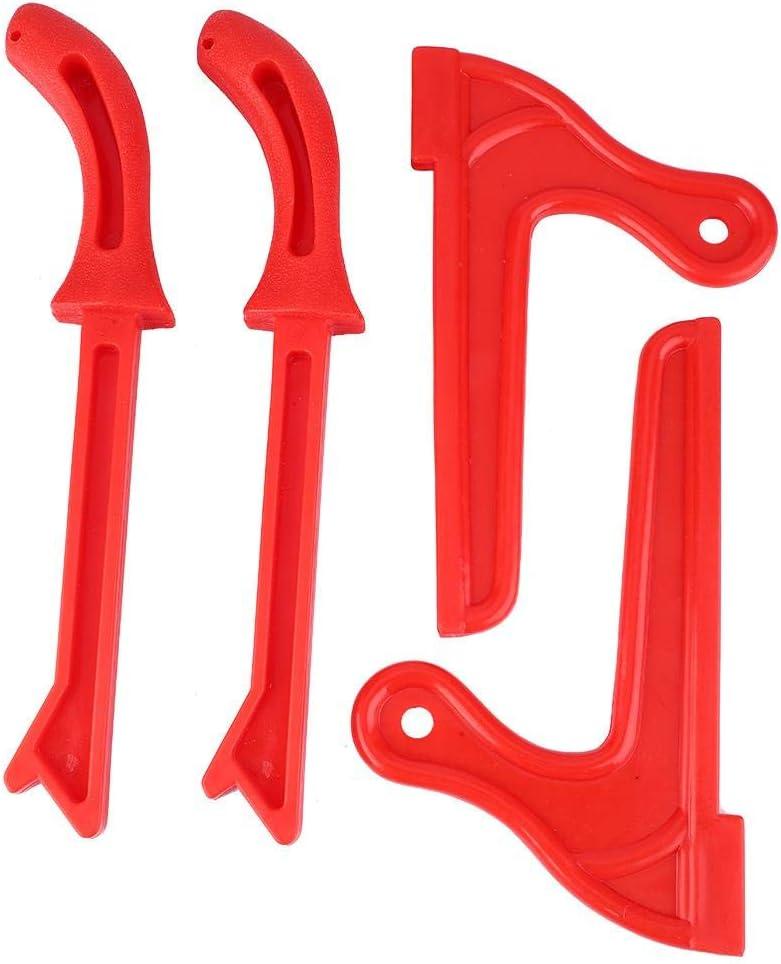 rojo 4 piezas Push Sticks pl/ástico sierra circular de mesa accesorios sierra de mano trabajo madera push Sticks