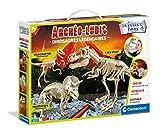 Clementoni- Archéo Ludic - Juego científico de Dinosaurios legendarios - Kit fósiles - Fabricado en Italia - versión Francesa, 7 años en adelante, Multicolor (52491)