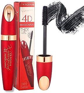 4D Silk Fiber Lash Waterproof Mascara Black Liquid Lashes Extensions Clear Mascara Cosmetics Eyelash For Thickening And Le...
