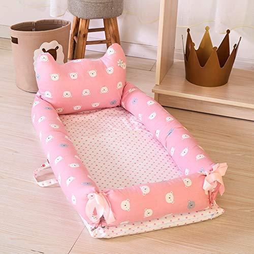 NADAEN BABY Berceau de Voyage en Coton Biologique pour bébé lit de Couchage pour bébé lit de Couchage Respirant et hypoallergénique,A,90x55x35cm