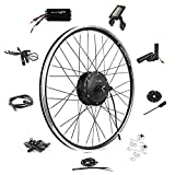 EBIKELING Waterproof Ebike Conversion Kit 36V 500W 26' Geared Electric Bike Conversion Kit - Front Wheel Electric Bicycle Hub Motor Kit (Front/LCD/Thumb)