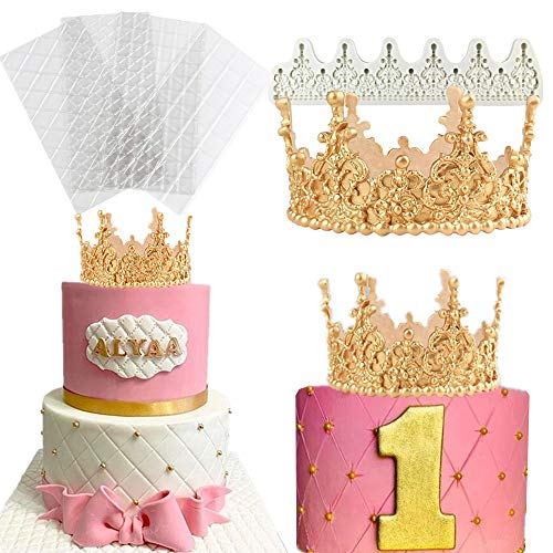 JeVenis Molde de corona de princesa de tamaño grande para torta de princesa, molde de torta de princesa, molde de torta de la corona de la torta de