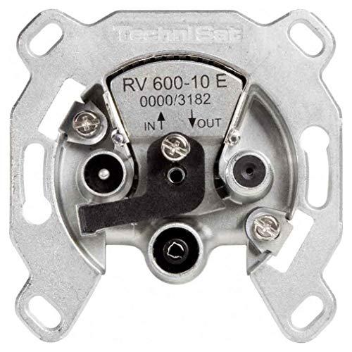 TechniSat TechniPro RV 600-10E Sat-Durchgangsdose für Einkabel-Anlagen mit einer Auskoppeldämpfung von 10 dB und elektronischem Überlastschutz