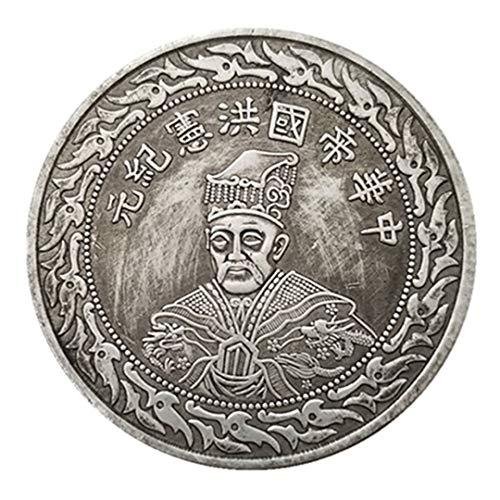 Ccyyy Moneda de Plata Antigua colección extranjera Imperio Chino Hongxian Época Conmemorativa de Plata para Monedas de latón Plateado Monedas de Plata conmemorativas Monedas de la Copia