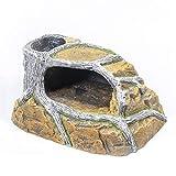 HAI RONG Vivarium de Mascotas Pequeño Reptil Rock Holidify Ocultar Cueva escondite Caja de reproducción Refugio para Terrarium Hábitat Decoración Accesorios Caja de cría de decoración de casa casera