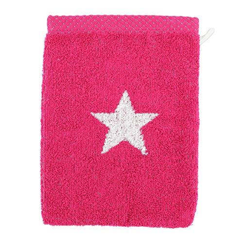 Linnea Gant de Toilette 16x21 cm 100% Coton 480 g/m2 Stars Rose