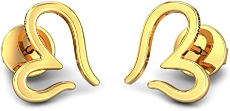 Candere by Kalyan Jewellers 18KT Yellow Gold Stud Earrings for Girls