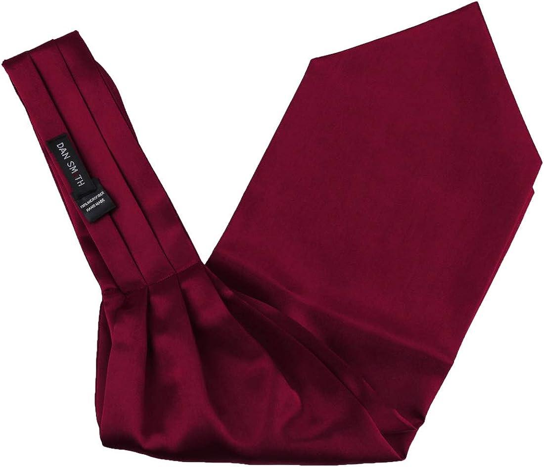 Dan Smith Ascot Ties Set Men's Fashion Satin Set Cravats Self-tie