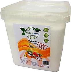 HNK STEVIAMARKT Erythritol -Erythrit Zuckerersatz Low Carb BOX–Die gesunde Zuckeralternative –Kalorienfrei, Zahnfreundlich, Geschmacksneutral –1er Pack (1 x 4,5 kg)