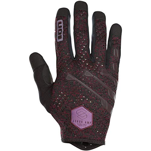 Ion Scrub Amp MX DH FR Fahrrad Handschuhe lang Bordeaux rot/schwarz 2019: Größe: XL