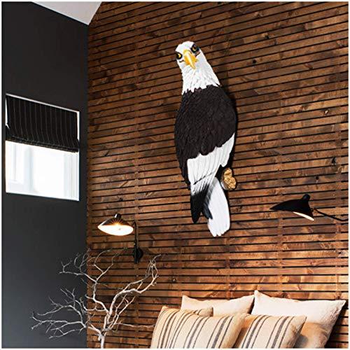 LIUSHI Decoración de Pared de águila - Escultura de Pared de Animal - Estatuas y Figuras Decorativas de jardín de Loro para Sala de Estar, Dormitorio, decoración de Oficina, Regalo