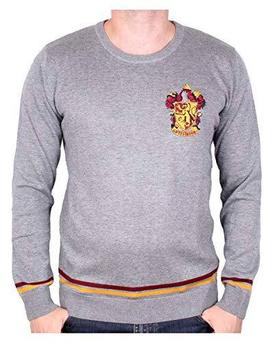 Harry Potter Gryffindor Pullover grau für Erwachsene Harry Potter Fans XXL
