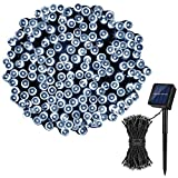 Koxly Solar String Lights,72FT 200 LED 8 Modes Solar Powered Christmas Lights Outdoor String Lights Waterproof Fairy Lights for Garden Party Wedding Xmas Tree