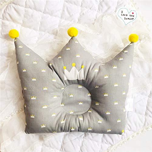 SDFS Baby-Formkissen, verhindert flachen Kopf, Säuglinge, Krone, Punkte, Kissen für Neugeborene, Jungen, Mädchen, Zimmerdekoration, C