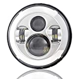 Star Headlight Products - Dot Approved 7Inch Chrome LED Headlight for Harley Motorcycle Tour,FLD,Softail Heritage,Street Glide,Road King,Electra Glide,Yamaha V-Star Road Star Jeep Wrangler