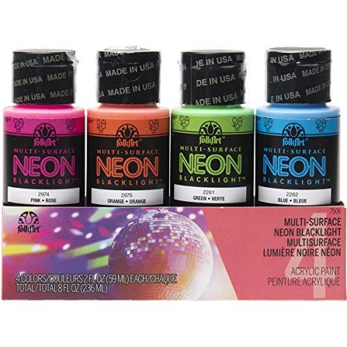 neon acrylic paint set - 9