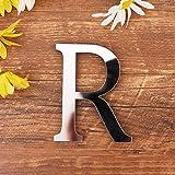 Gspirit 3D DIY Lettere Decorativo Alfabeto Argento, Creativo Alfabeto Acrilico Specchio Superficie 26 Lettere Parete Etichetta Festa Casa Decorazione (R)
