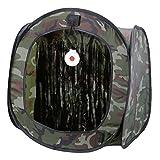 EFINNY Carpa de Caza Portátil BB Trampa de Tienda de campaña Tirachinas Plegable Caja de Tiro al Blanco Tiro con Arco Caza Catapulta Soporte para Exterior e Interior
