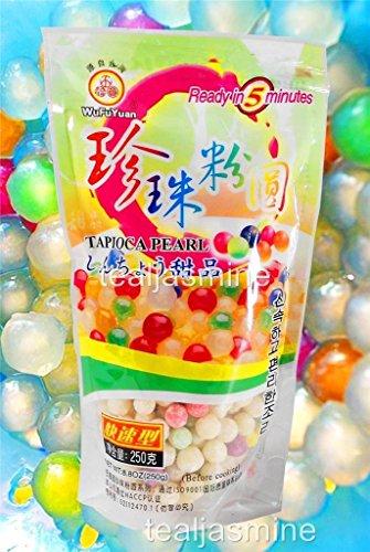 Bunte Tapiokaperlen für Bubble Tee, in 5 Minuten fertig, 260 ml, von WuFuYuan