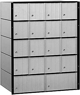 Salsbury Industries 2218 Aluminum Mailbox, 18 Doors, Standard System, Aluminum with Black Trim
