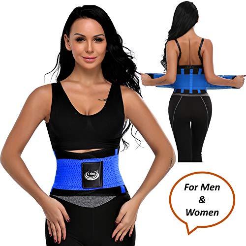Tdas sweat slim belt for men women waist stomach belt shaper fitness belt yoga wrap hot belt unisex weight loss back pain gym running travel tummy workout