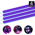 Brillihood LED 9W UV Black Light Fixture, T5 Integrated Tube Linkable lamp, Decorative Blacklight Dorm Party Room Hotel Club or DJ Stage, Corded Included Built-in ON/Off Switch (10-Pack)