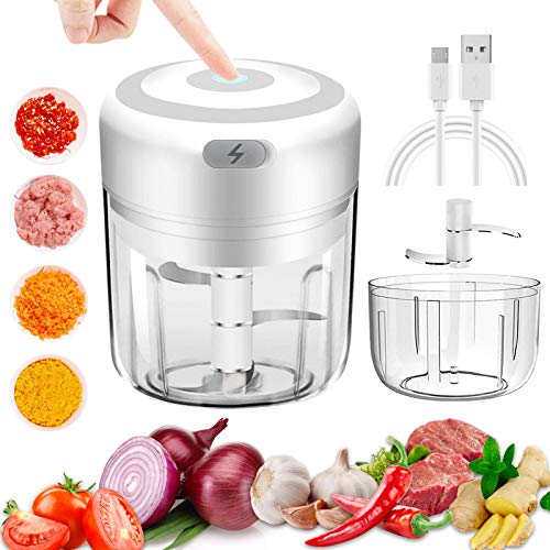 Details about  /Mini Electric Food Chopper Powerful Cordless Electric Vegetable//Fruits Chopper