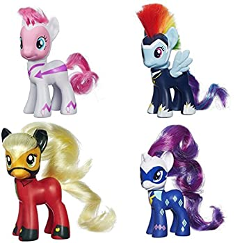 My Little Pony Power Ponies Fili-Second Pinkie Pie Zapp Rainbow Dash Mistress Mare-Velous Applejack & Radiance Rarity Figure Bundle by MLP