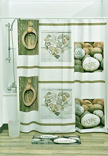 """EVIDECO Atelier Loft PEVA Bad Bedruckt Vorhang für die Dusche, Mehrfarbig, 71\'\'L X 71\"""" W /180 x 180 cm"""