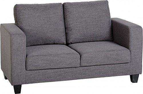 Seconique Tempo Two Seater Sofa-in-a-Box, FABRIC, Grey, Seats