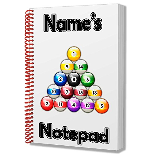 Zwembadballen gepersonaliseerd cadeau - A5 notitieboek/notitieboekje - Naam gedrukt op de omslag