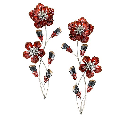 Formano Wanddeko Blume, 68 cm, rot/braun, sortiert