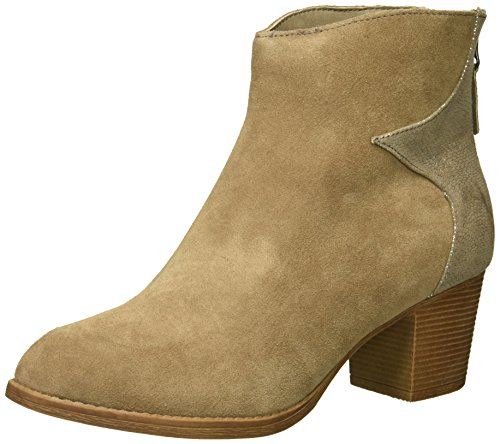 Skechers Women's Taxi-Starbright Ankle Bootie,Taupe,9 M US